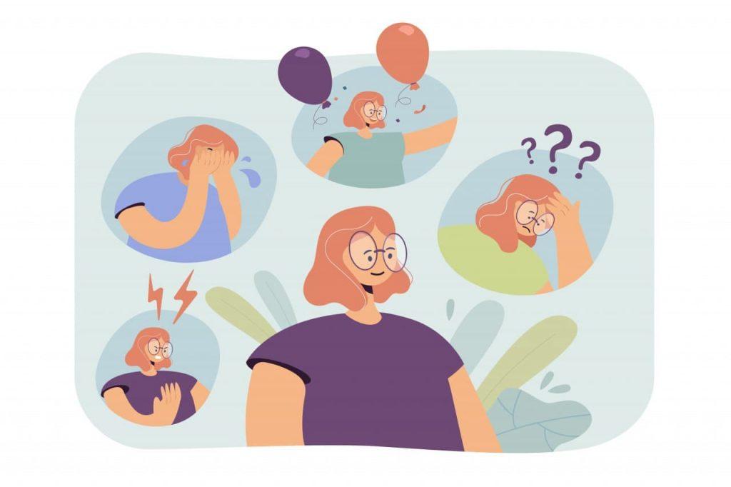 Woman going through nervous breakdown